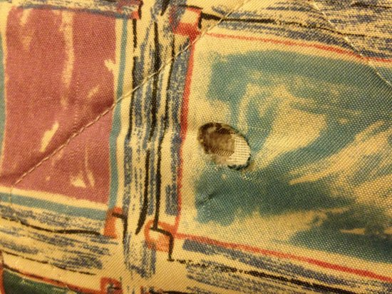 Knights Inn New Castle/Wilmington: This is a cigarette burn in the blanket