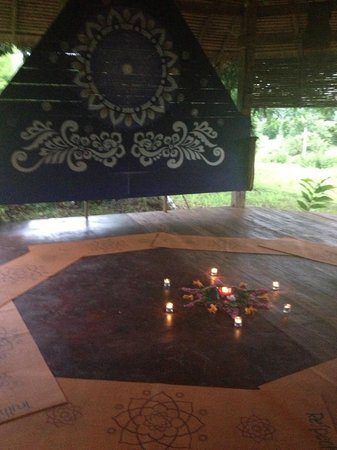 Xhale Yoga Pai: The studio set up beautifully by Bhud!