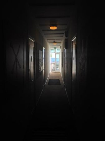 Badehotel Aeroe: view from one of the hallways