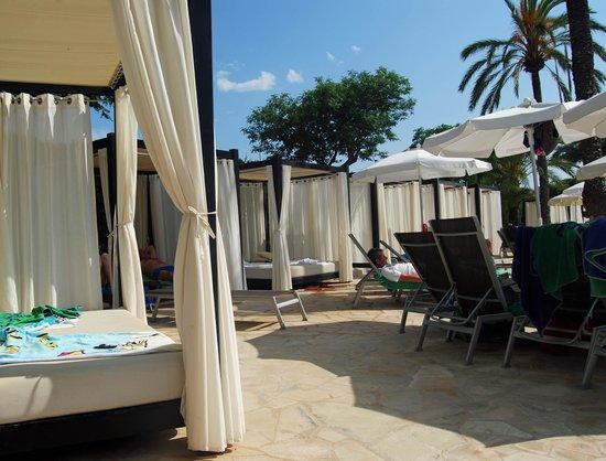 Protur Sa Coma Playa Hotel & Spa: Sunbed am Pool