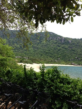 Six Senses Ninh Van Bay: Our Bicyles along with the view