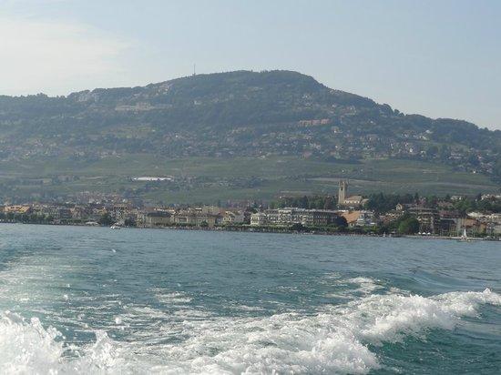 Hotel des Trois Couronnes : Sicht vom See