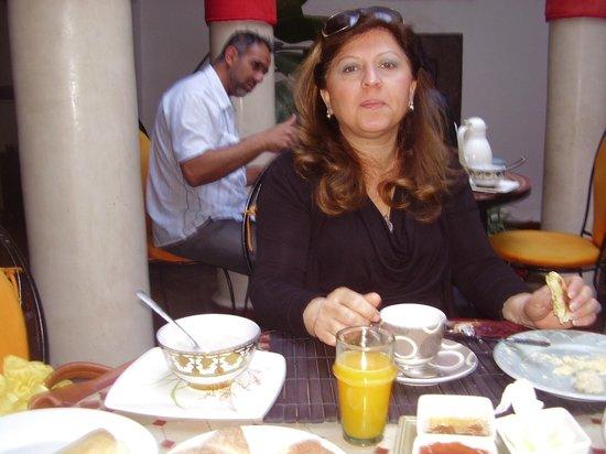 Riad Minorisa: salle à manger