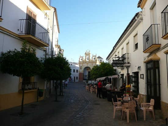 Cerveceria El Gallo : The street where the Cerveceria is, on the right side.