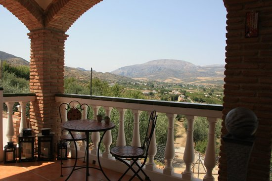 Alora Valley View Accommodations: Breakfast view