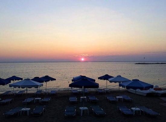 Aquarius: Sunrise from the room terrace