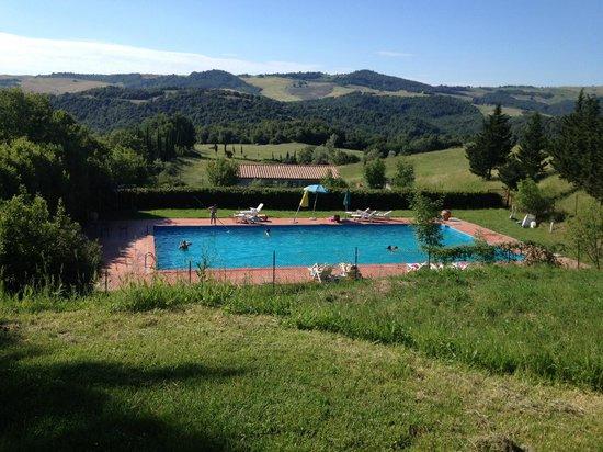 Bioagriturismo Orgiaglia: Pool and Tuscan countryside
