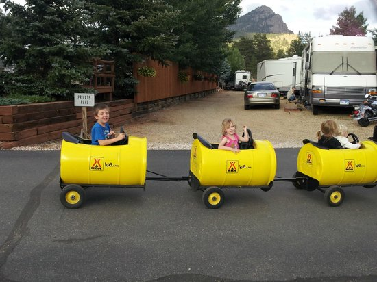 Estes Park KOA: This is the train