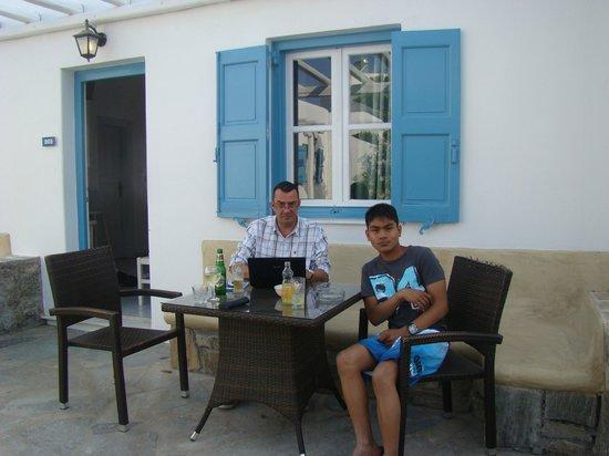 Petinaros Hotel: terrasse