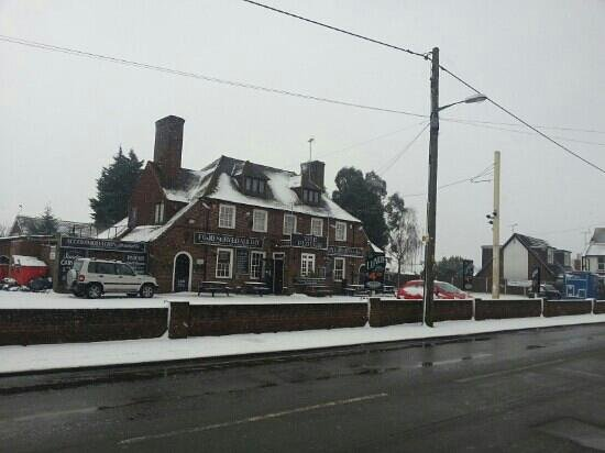Swalecliffe, UK: The Plough Inn in the snow