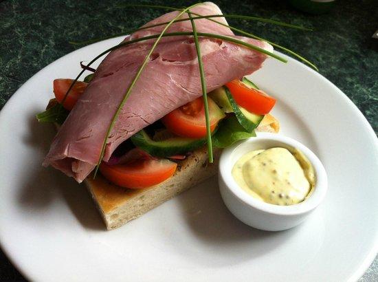 coasters: Ham open sandwich