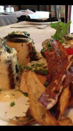 Giovanni's: Bone Marrow & Snails with Sweet Potato Fries.