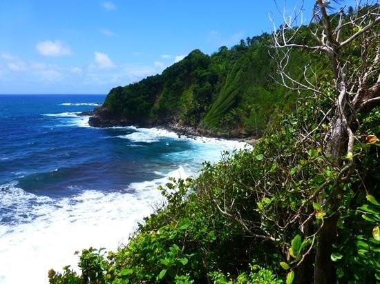 The Carib Territory: The Atlantic from the Carib village Dominica.