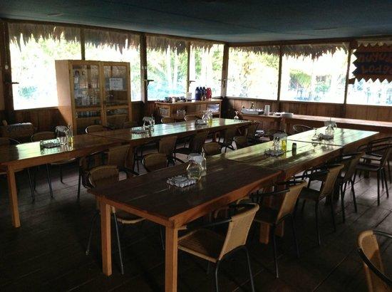 Muyuna Amazon Lodge: Restaurant and lounche