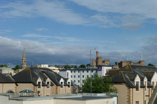 Armadale Guest House: View of Inverness castle from top floor twin room