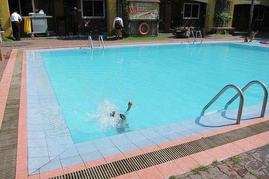 Crown Regency Residences Davao: heated pool kids loved it