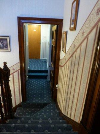 Gowan Brae House: Location of private bathoom (closed door) from Room 1 landing