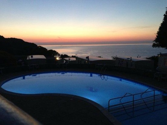 Beautiful Sunset Over The Sandaway Pool Picture Of Sandaway Beach Holiday Park Combe Martin