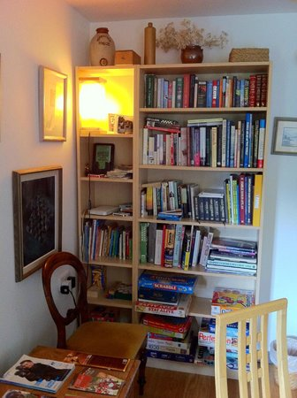 Slochd Mhor Lodge: living room bookshelf