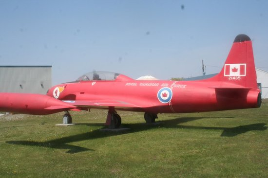 "National Air Force Museum of Canada : Canadair T-33 in ""Red Knight"" colours"