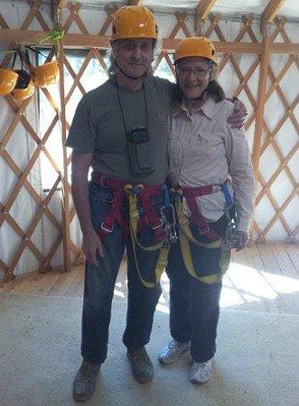 Zip Yosemite: Harnessing up in the yurt