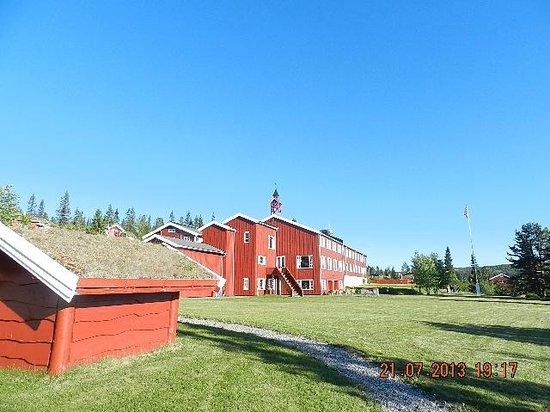 Gala Hogfjellshotel : photo prise du jardin