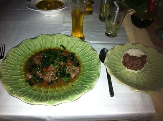Eat Sense Beach Restaurant Samui: boeuf sauce chili