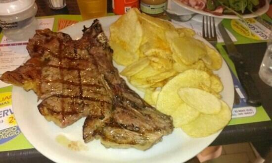 Evelyn : bistecca e patatine