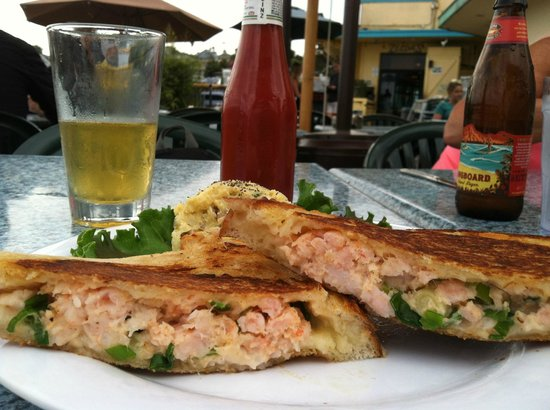 Zelda's: Shrimp Crab Melt on Sourdough MMMM