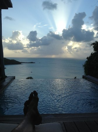 Saint Mary's, Antigua: Sunset from Cottage 39