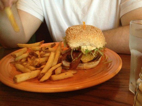 Kill Devil Grill: The big Kahuna burger....