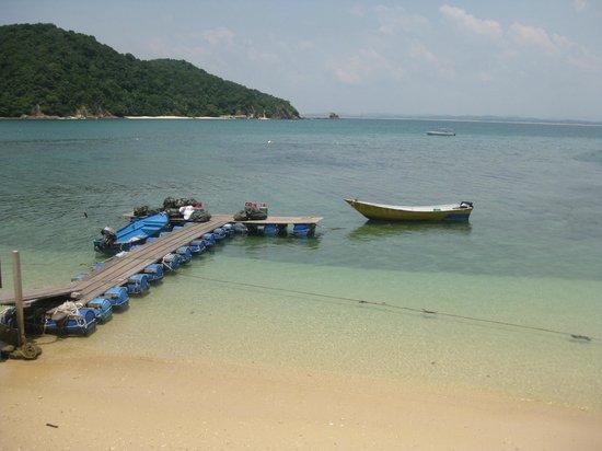 The jetty at Gem Island Resort & Spa