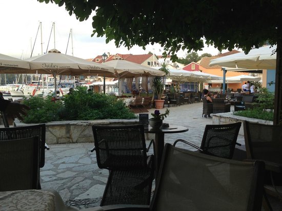 Irida's Restaurant view to Fiscardo Marina