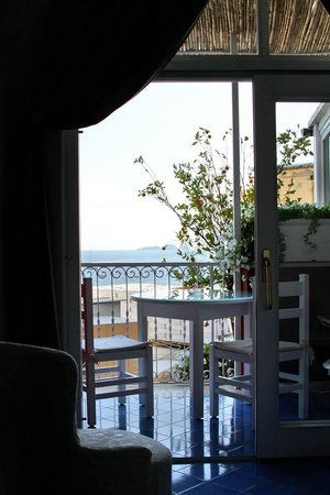 Villa La Tartana: Looking out onto our balcony and our view of the Siren islands.