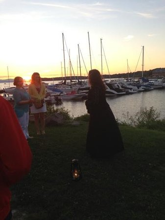 Queen City Ghostwalk: beautiful sunset at the wicked waterfront your