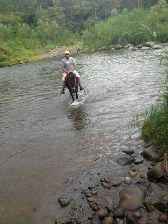 Rancho Margot: Horse Back Riding through the River
