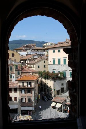Hotel San Michele: View from the top floor suite in the lookout tower of the old palace.