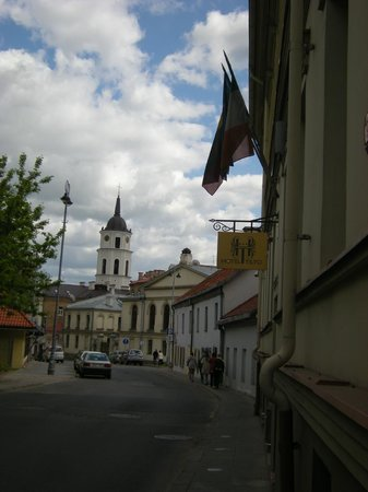 Hotel Tilto: the street in front of the hotel