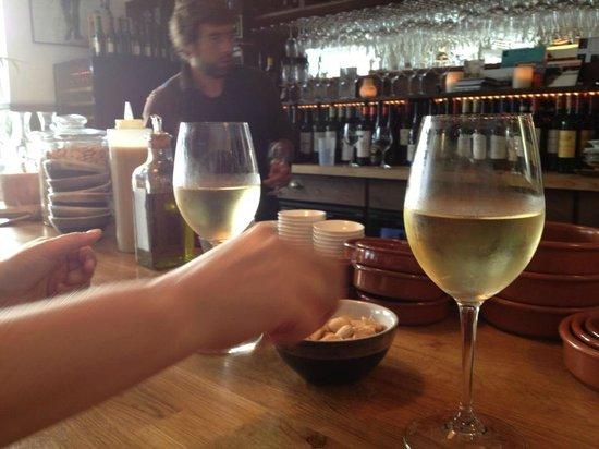The Black Pig Winebar: bar view