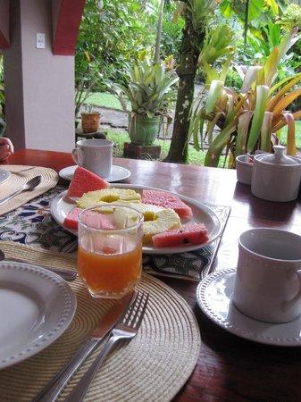 El Encanto Inn: breakfast fruits and smoothie