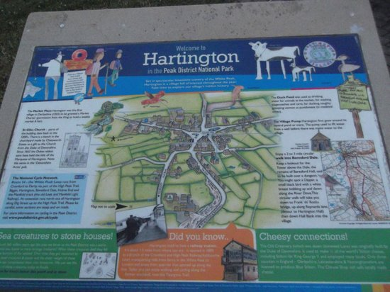 Hartington Hayloft Bed & Breakfast: Hartington map created by children of the village