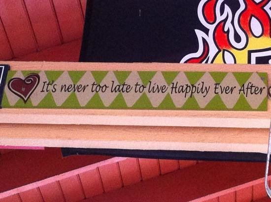 Radisson Resort Orlando-Celebration: One of the many great signs in the Tiki Bar!