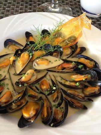 Hotel Restaurant Acadie Saint Victor : Mouclade au Pineau