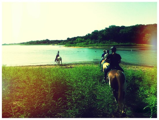 Widowmaker Trail Rides: going down to the lake to cool off