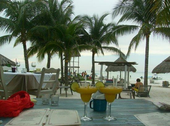 Holbox Hotel Casa las Tortugas - Petit Beach Hotel & Spa: Mango Margaritas in the restuarant