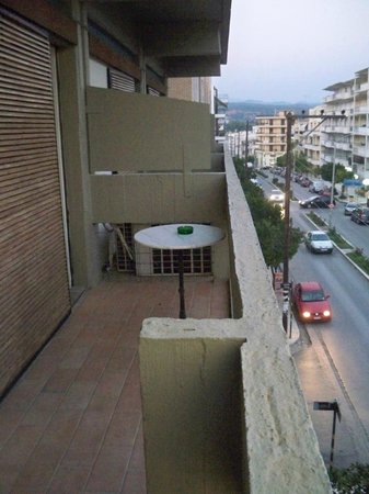 Hotel Dioscouri: and the other side of the balcony