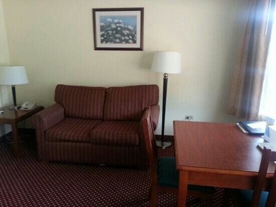 Quality Inn & Suites River Suites: living room suite 300