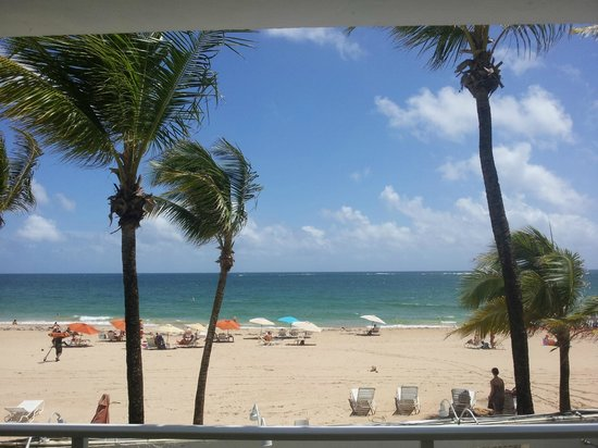 Numero Uno Guest House: View of Ocean Park Beach from Common Room