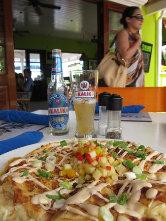 Sip Sip: Lobster quesadilla and a cold Kalik beer