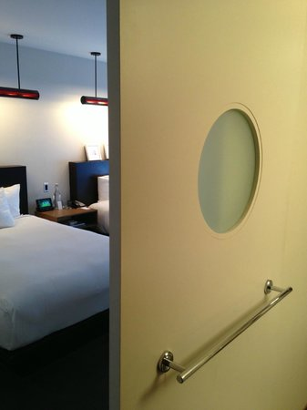 The James Chicago-Magnificent Mile: Sliding Door for Bathroom, Awkward
